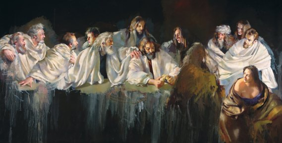 Robert Lenkiewicz Last Supper  http://www.robertlenkiewicz.org/content/last-supper