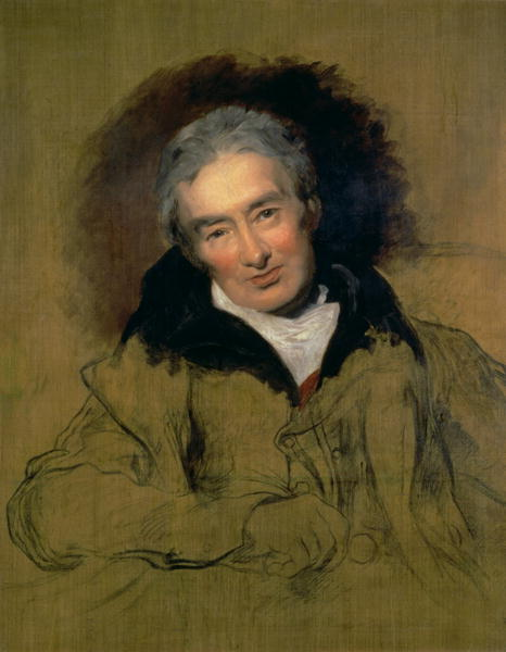 Sir Thomas Lawrence, 1828: William Wilberforce. He was raised Anglican, but came under the influence of Methodists and other evangelicals at any early age, who urged him to take up the anti-slavery cause. He wasn't the first to advocate, but he became the key member of Parliament on the issue, obtaining ban on the slave trade in 1807 and the abolition of slavery itself in most of the British Empire in 1833. He was a conservative, but he became acutely aware that the discussion was about human beings with souls as dear to God as any others.