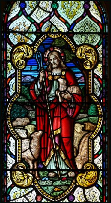 Good Shepherd window at St. Joseph's Hospital, London, Ontario. (source unknown)
