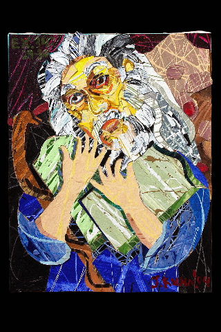 An unknown artist's version of Moses' shining face.