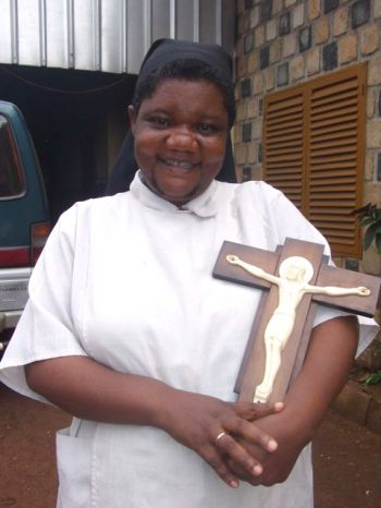 Sister Jane Mankaa, founder of the Benedictine Sisters of Bethany, the first Anglican religious order in Cameroon. She joined an order of Presbyterian nuns (!) at age 16, then felt called to become an Anglican. She started a new order but, with permission of the Bishop of Cameroon, remained under her previous vows with the Presbyterian sisters and adopted their Benedictine disciplines. Her Sisters of Bethany specialize in ministry to orphans. (Chris Gold)