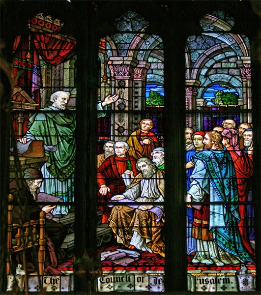 Window depicting the Council of Jerusalem (freerepublic.com)