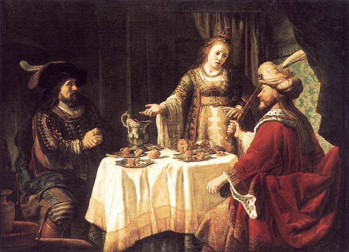 The banquet of Esther; artist unknown.