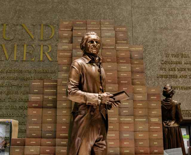 "The U.S. National Museum of African-American History and Culture opens this week in Washington with an eclectic mix of stories to tell, from slavery to Jim Crow, Rosa Parks and #BlackLivesMatter. Visitors start in the basement in colonial times and work their way up from bondage to freedom and a vast body of personal accomplishment. Above, a statue of Thomas Jefferson, the great apostle of democracy and third president, who wrote ""all men are created equal"" while owning as many slaves as there are bricks in this display. Like many slaveholders, he owned some of his own children. This museum's going to get people talking. (The New York Times)"