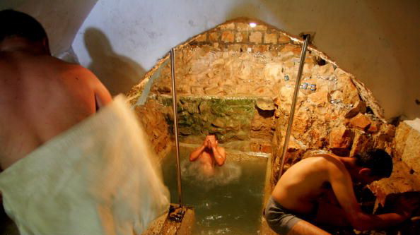 Ritual bathing for the Jewish rite of purification; remember the six water jars at the Wedding in Cana. (thenewearthworks.com)