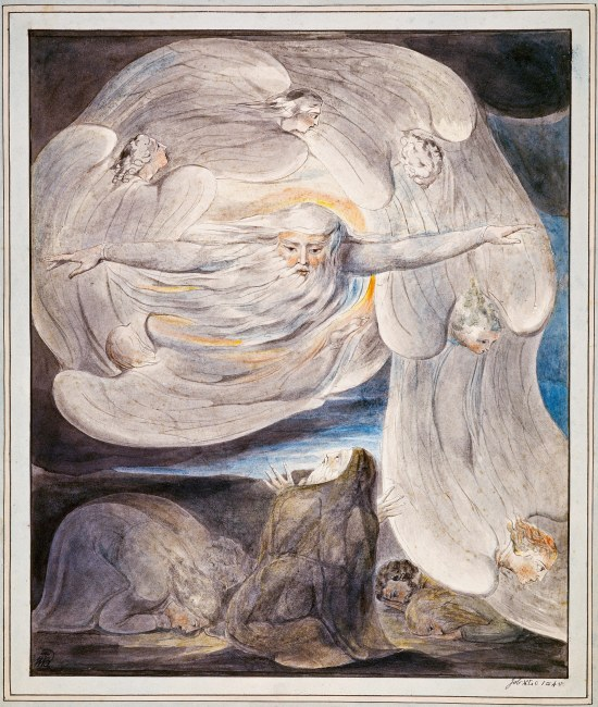 God in the whirlwind, by William Blake.