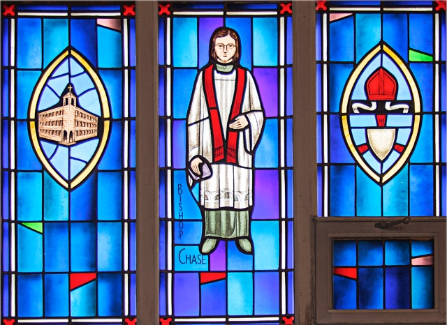 Philander Chase window at St. Paul's, Kankakee, Illinois, which he founded. (parish photo)