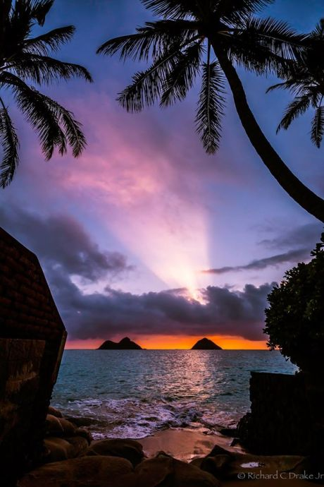 Sunrise at Lanaka'i, Oahu, Hawai'i: for joy in God's creation. (Richard Drake Photography)