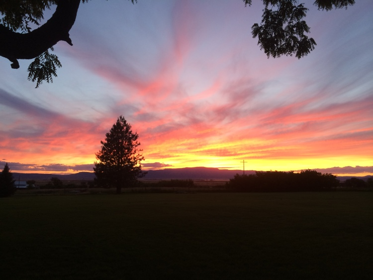 A cross on the horizon at sunset at Ascension Camp in the Diocese of Eastern Oregon. (Bishop Nedi Rivera)