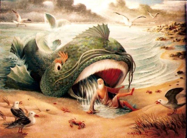 H. Mandel: Jonah Spit Out by the Whale (sacredjourneysracine.com)
