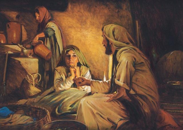 Vermeer: Mary and Martha