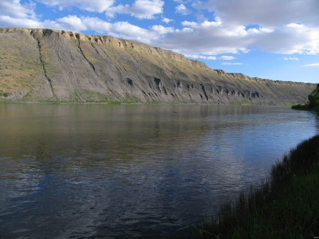 White cliffs over the Missouri River near Fort Benton, Montana. (U.S. Geological Service)