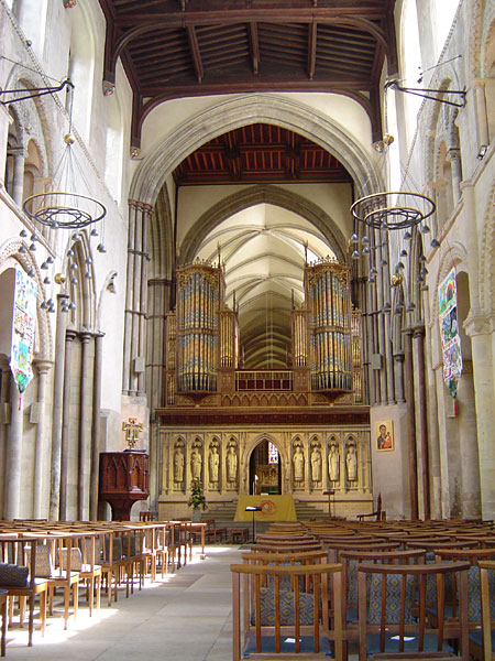 Rochester Cathedral, Kent, England. (source unknown)