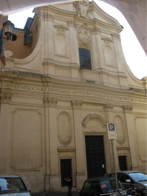 Church of St. Paul alla Regola in Rome, built on the site where the apostle was kept under house arrest in the lesson below. (Fr. Gary Coulter)