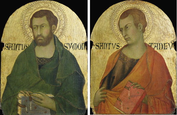 St. Simon and St. Jude; Jude is one of the patron saints of the Armenian Apostolic Church as the first to bring the Gospel to that country. Very little is known of Simon the Zealot, but it's assumed he was an evangelist in various places around the Mediterranean, and at least three locations claim he was martyred there. (For All the Saints blog)