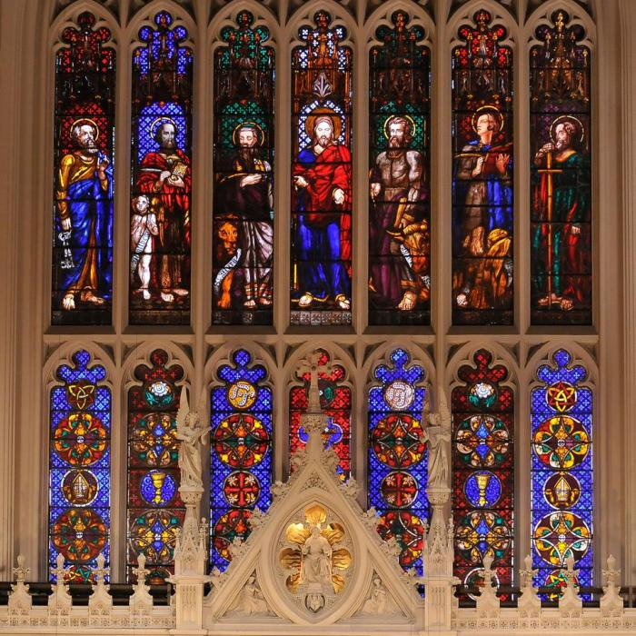 Windows at Trinity Church, Wall Street, New York City. (parish photo)