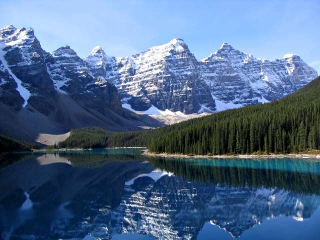 For the beauty of the Earth: Valley of the Ten Peaks and Moraine Lake, Banff National Park, Alberta, Canada. (Wikipedia)