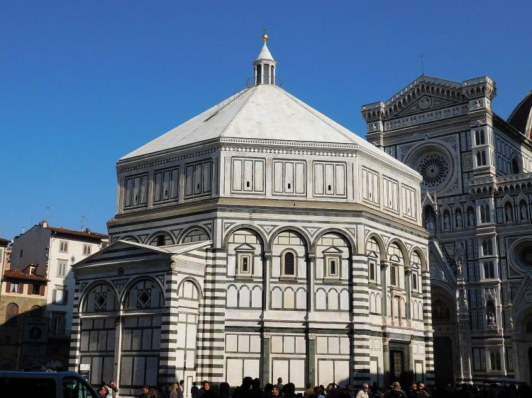 Baptistry St. John, next to the Florence Duomo: it's quite a font. (Wikipedia)