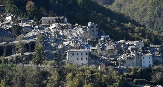 Last week's earthquake in the Umbria region of Italy destroyed the town of Arquata del Tronto, near Norcia (Nursia), known the world over as the home of St. Benedict. (Giuseppe Bellini/Getty Images)