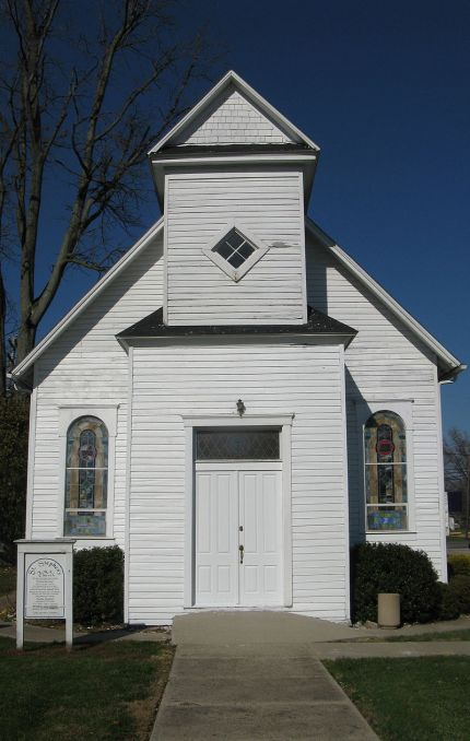 St. Stephen's African Methodist Episcopal Church, Hanover, Indiana, a small town just across the river from slaveholding Kentucky. (Wikipedia)