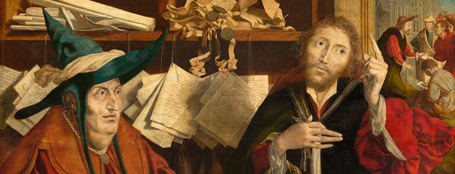 Marinus van Reymerswale: The Unjust Steward (Kunst Historiches Museum, Vienna)
