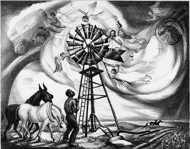 Zekiel Saw the Wheel, a lithograph from 1940. (Talbot Historical Society)