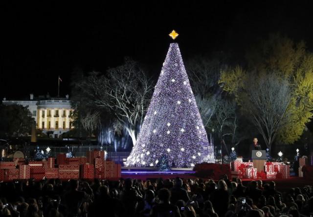U.S. National Christmas Tree, 2016. (Alex Brandon/Associated Press)