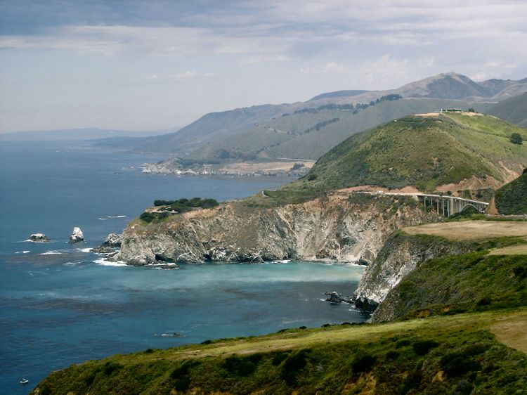 Big Sur, south of Monterey, California: bless ye the Lord. (Wikipedia)