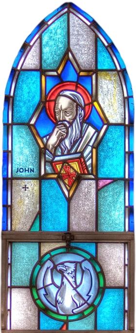 St. John window at St. Paul's, Kankakee, Illinois. (parish website)