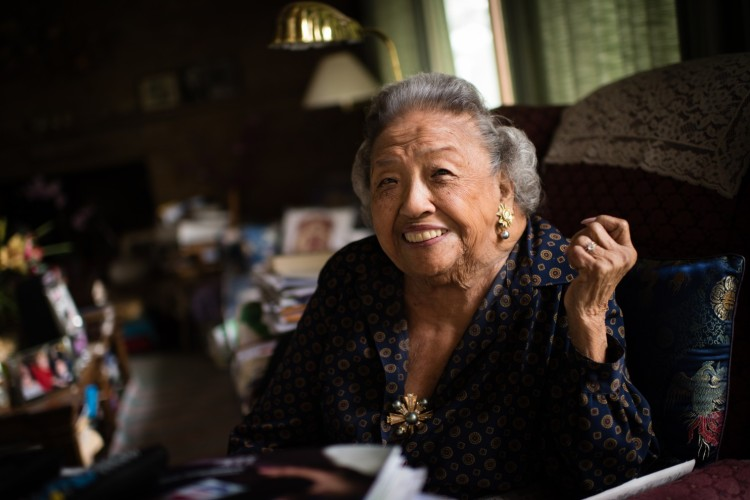 The opening of the African-American Museum of History and Culture in Washington, D.C. last fall caused a team of journalists to visit the home of Cecilia Marshall, the widow of civil rights giant Thurgood Marshall, the first black justice of the U.S. Supreme Court, where she keeps her own Thurgood shrine of photos and memories. He was 46 and she was 26 when they married; they had two sons, both distinguished lawyers. She was born in Hawai'i of Filipino immigrants; her father forbade her to marry her first choice, another Filipino-American who didn't speak the right dialect; so she married Thurgood, a foot and a half taller and a different race entirely. It worked out pretty well; he would tease her about being short, and she would threaten to stand on a chair and beat him up. He was the cook, while she followed behind cleaning up after him, knowing he'd dirty every dish in the house with his wonderful creations. (Sarah L. Voisin/The Washington Post)