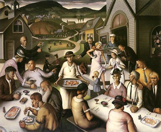 Paul Sample, 1933: Church Supper. (Springfield Museum of Art, Massachusetts)