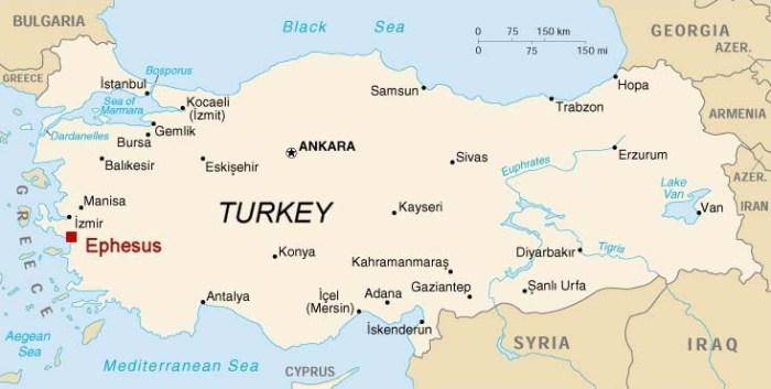Ephesus was a coastal city in what's now Turkey. (ephesus.us)