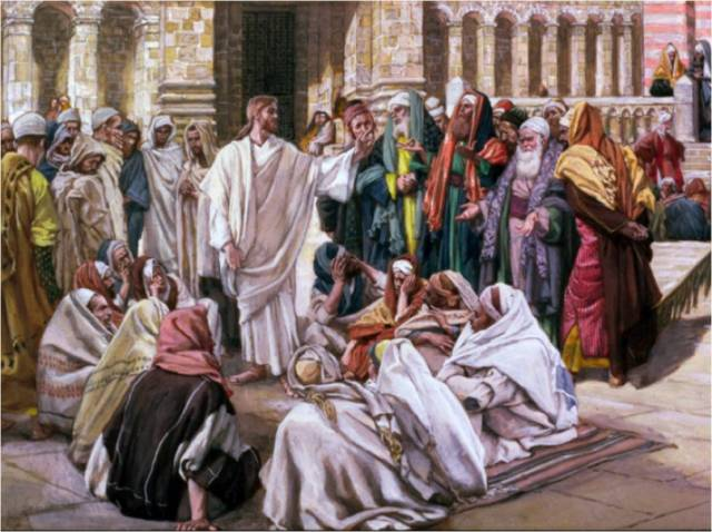 Jesus teaching in the Temple (artist unknown; dianegw.blogspot.com)