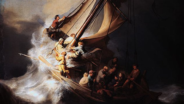 Rembrandt, 1632: Storm on the Sea of Galilee