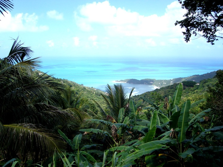 For the beauty of the Earth: north coast of Tortola in the British Virgin Islands. (Wikipedia)