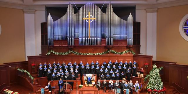 "A pipe organ at Trinity Church, Wall Street, New York City, damaged severely on 9/11, has finally found a new home, thanks to a program that conserves orphaned instruments, and now graces the new sanctuary at Johns Creek United Methodist Church near Atlanta, Georgia. The pipes and all their works were covered with soot, ash and contamination after the 2001 terrorist attack, and the wealthy New York parish opted to replace its 40-year-old Aeolian-Skinner workhorse but put it into storage, knowing it could be rebuilt if the right ""adoptive parents"" could be found. The project required over $1 million in repairs, but saved the large Methodist congregation three times that amount after Trinity's donation to the Organ Clearing House. Revoicing took two months, the instrument made music again in November and was rededicated 4 December. (Johns Creek photo)"