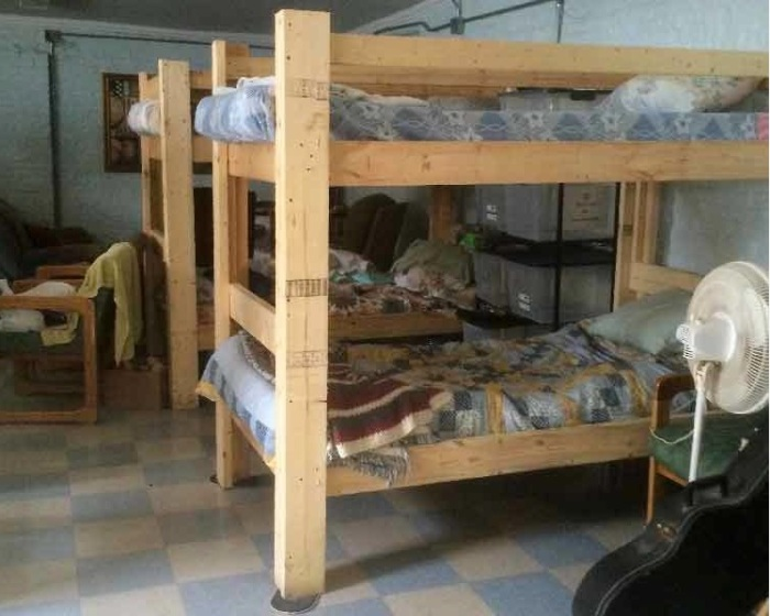 The bunk beds at Wayside Inn were built by industrial arts students - shop class - at Jennings County High School. We congratulate the students on their workmanship - and the teacher for knowing this was a lot more satisfying project than the ping pong paddle I was forced to build. When a kid makes something for others, that kid turns on. (Wayside Inn photo)