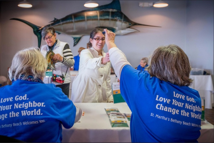 The Diocese of Delaware held its 232nd diocesan convention last weekend, with St. Martha's, Bethany Beach, serving as host parish with their volunteers in blue T-shirts. (Danny Schweers)