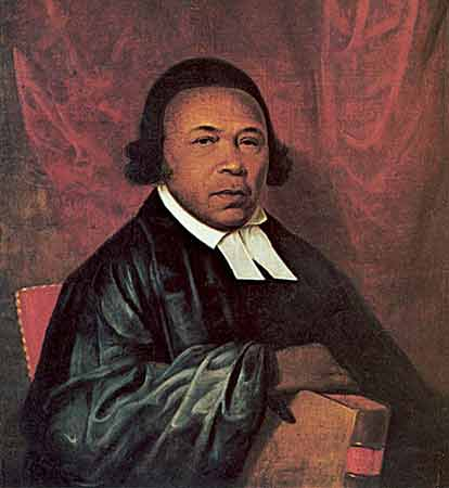 Absalom Jones and his friend Richard Allen led a walkout from their Philadelphia Methodist church when it tried to impose racial segregation one Sunday. They organized their own church, which eventually became St. Thomas's African Episcopal Church, on the condition that Mr. Jones be licensed as a layreader and eventually ordained. (Delaware Art Museum)