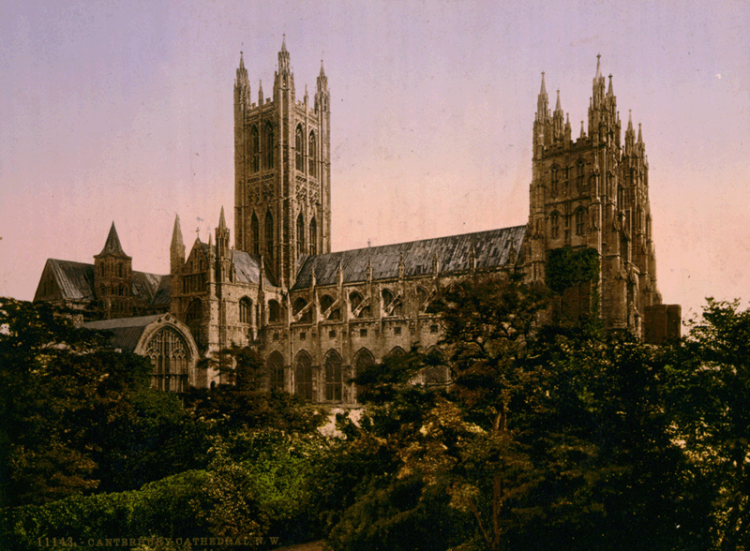 Canterbury Cathedral around the turn of the 20th Century. (U.S. Library of Congress)