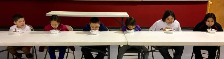 How do you eat if you can't use your hands? The GLORY kids decided this asking for help thing is a pretty good idea. (The Rev. Lauren R. Stanley)