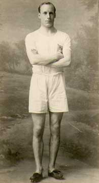 Eric Liddell was born in China, the son of missionaries, and educated at a boarding school in London, then the University of Edinburgh, where he excelled in athletics. He made the British Olympic track team as a sprinter. (source unknown)