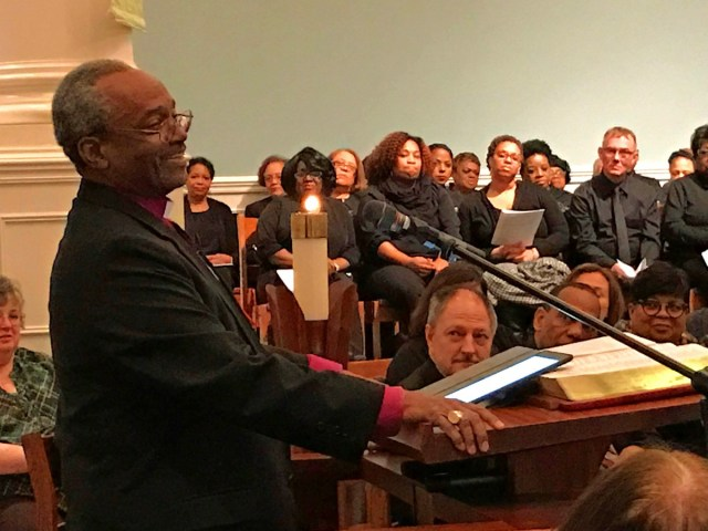 Bishop Curry preached at Pittsburgh Theological Seminary.