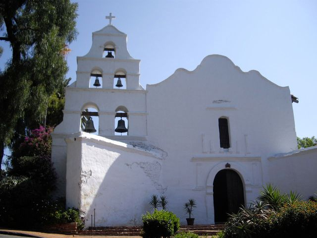 Mission San Diego de Alcalá, California, founded in 1769 by Fr. Junipero Serra, a Spanish missionary who set out to Christianize what was then the northwest coast of Mexico. (Wikipedia)