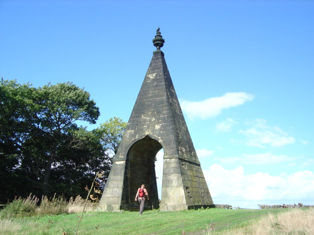 A folly called the Needle's Eye on the Wentworth Woodhouse estate in North Yorkshire, England. (Christopher Thomas)