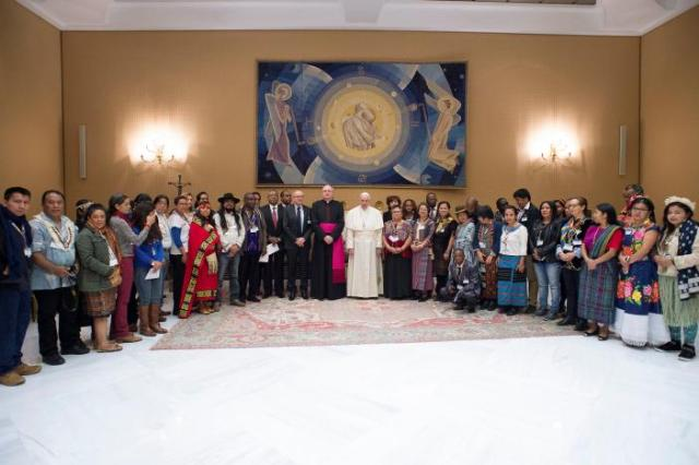 "Pope Francis all but endorsed the Standing Rock protests yesterday in Rome during a meeting with Indigenous members of the International Fund for Agricultural Development. He did not mention the North Dakota protest by name, but said, ""In this regard, the right to prior and informed consent (of native peoples) should always prevail,"" citing the 1997 U.N. Declaration on the Rights of Indigenous Peoples. The Trump Administration just reversed U.S. policy on completing a massive oil pipeline on former tribal lands just a mile from the current reservation boundary. (Osservatore Romano)"