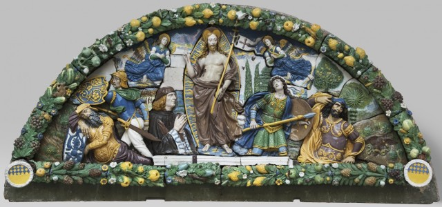 Giovanni della Robbia, c. 1525: Resurrection sculpture in glazed terra cotta, part of a new exhibit of 40 della Robbia masterpieces which opened Sunday at the U.S. National Gallery of Art in Washington. (Brooklyn Museum)
