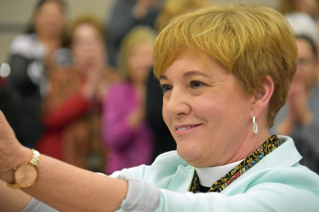 The Rev. Jennifer Brooke-Davidson has been elected Suffragan Bishop of West Texas, the first time a woman has won an episcopal election there. (diocesan photo)