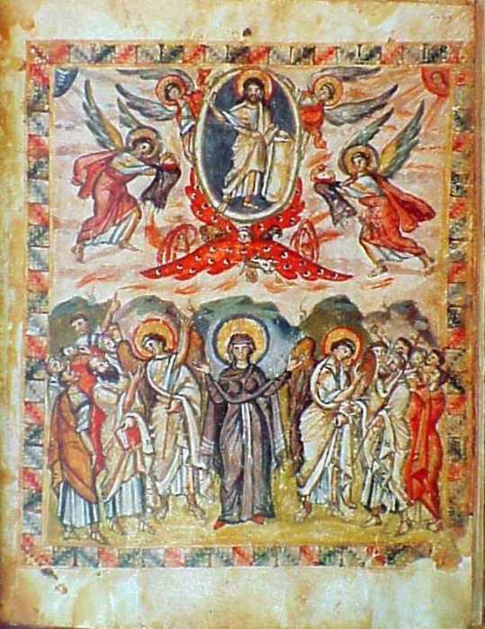 Rabbula Gospels, 6th C.: Ascension